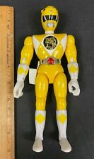 "1993 BANDAI *POWER RANGERS* 8"" FIGURE (YELLOW RANGER) *NO LASER GUN* (NM)"