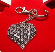 Schlüsselanhänger HERZ Gitter Design Anhänger m.Swarovski*Elemente*DAS Geschenk