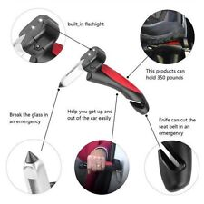 Handle Flashlight Cutter Cane Hammer Aid Car Belt Auto Portable Emergency LED