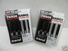 """10 X TREND TR17 KITCHEN FITTERS WORKTOP ROUTER CUTTERS 1/2"""" x 50mm 2 X TR/KFP/3"""