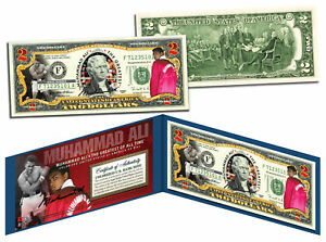 "MUHAMMAD ALI ""The Greatest"" Legal Tender U.S. $2 Bill * LICENSED * w/Folio & COA"