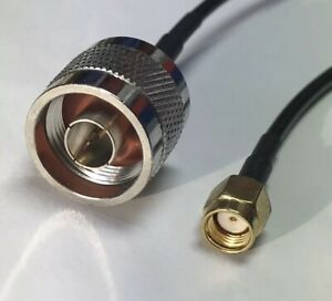 10 feet RG58 N Male to RP-SMA Male RF coax Cable Antenna Wire plug Jack Crimped