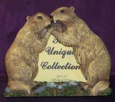 Cadre photo couple de marmottes - Déco montagne