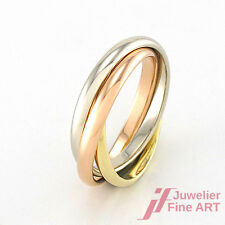 DREIER-RING - 585/14K Tricolor-Gold - 3,1 g - Gr. 42