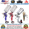 1.4/2.5mm HVLP Gravity Feed SPRAY GUN Kit w/ Regulator Auto Paint Primer Flake