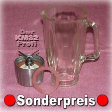█ BRAUN KM32 🔴 MIXBECHER GLASMIXER MIXERGLAS + MESSER ohne Deckel MX 32 31 3