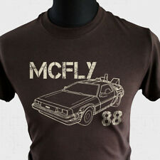 McFly 88 T Shirt Back to The Future Marty Delorean DMC12 Doc Brown Biff Flux Brn
