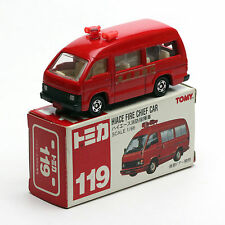 TOMY TOMICA 119 NO.3 TOYOTA HIACE FIRE CHIEF CAR