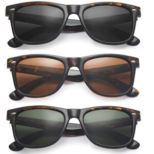 Retro Square Polarized Sunglasses Men Women UV Protection Wayfare Style Shades