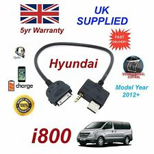 For Hyundai i800 iPhone 3gs 4 4s iPod USB & 3.5mm Aux Cable Model Year 2012+