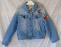 Girls Nutmeg Blue Denim Embroidered Dragonfly Wild Flower Jacket Age 5-6 Years