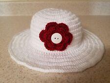 Crocheted girl sun hat