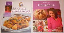 Lot de 2 livres 25 recettes Marocaines et couscous par Fatéma Hal