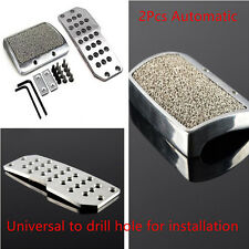 2Pcs Car Brake Non Slip Pedal Pads Cover Sets Silver Tone Automatic transmission