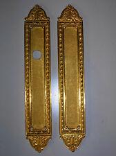 ancienne plaque proprete bronze doré poignee porte ancienne serrure chateau ST