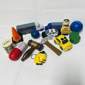 Lot of 14 Stress Advertising Balls Other Shapes Gavel Trucks Money Hammer More
