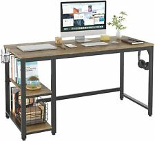 """55"""" Industrial Computer Desk for Home Office, Wood Study Writing Desk"""