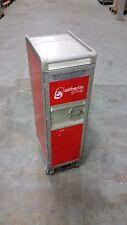 Original Air Berlin Halfsize Trolley, rot, inkl. 7 x Kunststoff-Einschübe