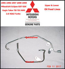 95 99 Eclipse Talon Turbo UPPER & LOWER Oil Feed Lines 4g63 NEW OEM