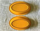 Le Creuset Cast Iron Oval Bakers, Au Gratin, set of 2, Orange/Yellow