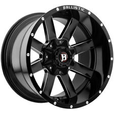 "4-20"" Inch Ballistic 959 Rage 20x10 8x170/8x180 -19mm Black/Milled Wheels Rims"