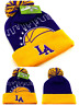 Los Angeles New Leader Knit Beanie Toque Skyline Lakers Purple Gold Era Hat Cap