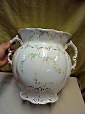 "HUGE Antique Johnson Bros Royal Semi Porcelain England Double Handled Vase 12"""