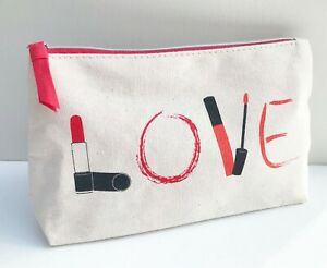 "Lancome ""Love"" Makeup Cosmetic Bag / Travel Toiletry Pouch, Brand NEW!"