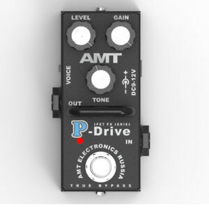 AMT Electronics P-Drive MINI (PD-2) – JFET distortion pedal - emulates Peavey