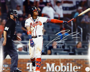 RONALD ACUNA JR. AUTOGRAPHED SIGNED 16X20 PHOTO ATLANTA BRAVES BECKETT 181327
