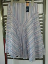 Vintage Retro M&S striped cotton skirt lined skirt size 10 BNWT
