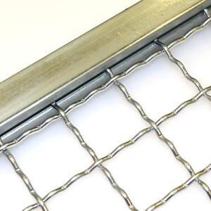 Einfassprofil für Wellengitter Stanzgitter verzinkt U-Profil Kantenprofil Rahmen