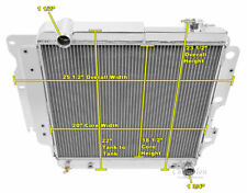 1987-2004 Jeep Wrangler YJ Chevy V8 Engines 3 Row Champion Radiator & Fan