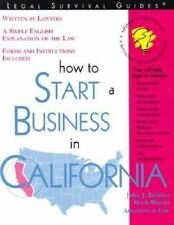 How to Start a Business in California: With Forms-ExLibrary