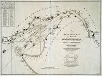 MAP ANTIQUE 1776 FISHER DELAWARE BAY RIVER USA LARGE REPRO POSTER PRINT PAM1651