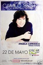 "Camilo Sesto / Angela Carrasco ""La Gira Del Adios"" 2014 San Diego Concert Poster"