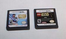 NINTENDO DS LEGO STAR WARS & STAR WARS CLONE WARS GAMES FREE SHIPPING