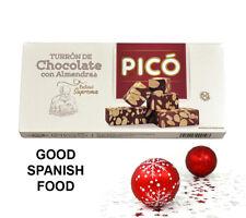 Turron de Almendras con Chocolate PICÓ-Spanish Almonds Chocolate Nougat-200grams