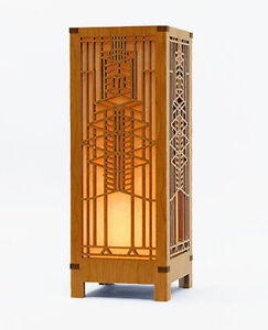 Frank Lloyd Wright Robie Art Glass Mini Lightbox Accent Lamp