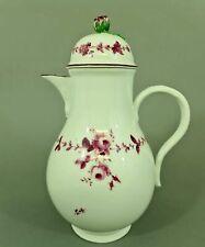 (M1596) Barocke Meissen Kaffeekanne, Marcolini Periode1774-1814, 1.Wahl, H=27 cm
