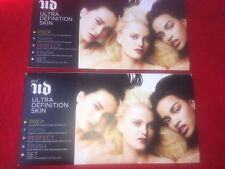 2 X UD Ultra Definition Skin Foundation Sample, Prep, Prime, Perfect,Finish,Set