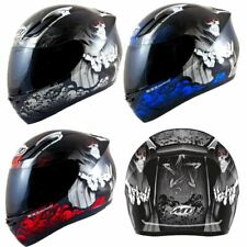 MT Revenge Grim Reaper Motorcycle Scooter Helmet Skeleton Crash Motorbike Moped