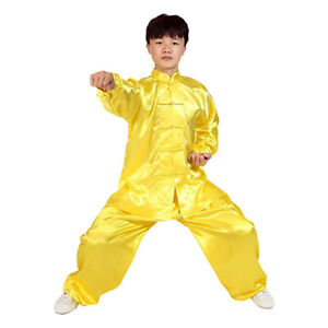 Unisex Children Adult Chinese Martial Arts Tai Chi Kung Fu Performance Costume T