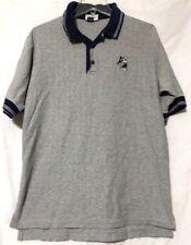WALT DISNEY WORLD Men's Gray Blue Mickey Mouse Golf Polo Shirt Size MEDIUM