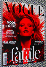 VOGUE PARIS, FEMME FATALE, LARA STONE, Jane Birkin, Marine Vacth