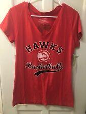 NBA Atlanta Hawks Womens T Shirt Dwight Howard Majestic Threads Red Large