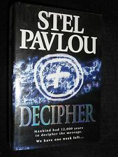 SIGNED; Decipher by Stel Pavlou - 2001-1st - Debut Novel - Thriller/Mystery Book
