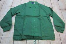 BRAND NEW VTG Cardinal 24 Blank Green Snap-Up Windbreaker Jacket Coat Mens Large