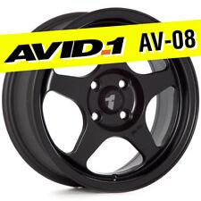 Avid1 Av 08 15x65 Flat Black 4x100 35 Wheels Set Of 4 Spoon Style Jdm Rims