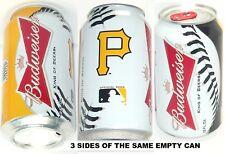 2012 PITTSBURGH PIRATES MLB BUCS BASEBALL BUDWEISER BALL BEER CAN BUD SPORT GOLD
